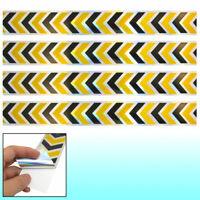 4pcs Yellow Balck Reflective Self Adhesive Warning Tape Sticker Decal for Car