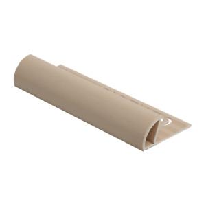 Genesis Round Edge ETR Trade Tile Trim 2.5m Lengths 10mm Buff