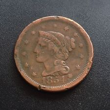 USA 1854 large cent Matron Head Liberty One cents cuivre rare 2247
