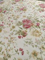 Sanderson Blewberry Cream/Pink Curtain Craft Fabric 1.8 Metres Linen Blend