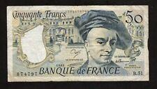 BILLET 50 FRANCS - QUENTIN DE LA TOUR - 1988 -