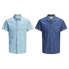 JACK&JONES Hombre Camisa Larga Corta Vestir Casual 23025