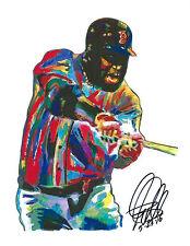 David Ortiz Big Papi Boston Red Sox First Base Baseball Print Poster Art 8.5x11