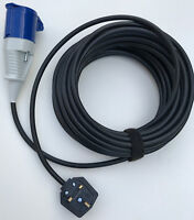 QUALITY BOUNCY CASTLE 13a Rubber Plug 16a Socket Extension Lead H07RN-F Cable