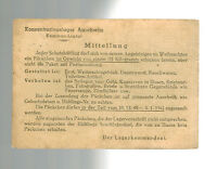 1941 Germany Auschwitz Concentration Camp Cover KZ Postcard Rules RARE!