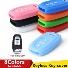 3 Buttons Silicone Remote Key Fob Cover Case Shell For Audi A3 A4 A5 A6 S4 S5 Q5