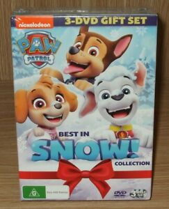 Paw Patrol : Best In Snow! 3-Movie Collection Dvd 3-Disc Boxset Brand New Sealed