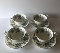 WEDGWOOD ENGLAND ASHFORD SET OF 4 CUPS & SAUCERS W4106