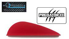 "2.0"", Fire Red, Predator-Ii Vanes , Pkg 100, Q2I, *When Accuracy Counts*"
