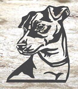 Jack Russell- Rustic Rusted Pet Garden Sculpture - Solid Steel