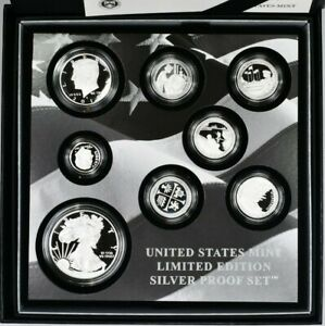 2019 US Mint Limited Edition Silver Proof Set 8 coins total OGP 99c NO RESERVE