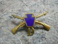 Pennsylvania National Guard Hat Insignia-Screw Back With Pins