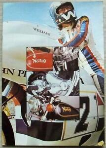 NORTON Sales Brochure 1974 USA COMMANDO 850 Interstate ROADSTER John Player