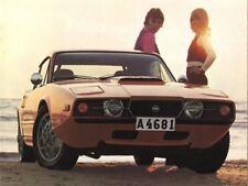 1972 Saab SONNET III, Orange, Refrigerator Magnet, 40 MIL