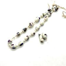 Antique Art Deco Millefiori Bead Necklace #64