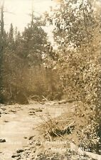 c1920s Scene on Musselshell River, Harlowton, Montana Real Photo Postcard/Rppc