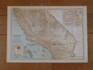 Antique Map SOUTHERN CALIFORNIA 1903 USA United States of America Los Angeles
