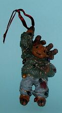 "Boyds Bears ornament Malley Twinklemoose"" #25004 Christmas lights NIB 2002 ret"