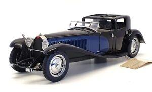 Franklin Mint 1/24 Scale 12421F - 1930 Bugatti Royale Napoleon Coupe Black/Blue