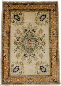 Floral Classic Design Handmade 3X5 Vintage Area Rug Small Oriental Wool Carpet