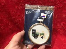 """Dale Burdett Small Cross Stitch Kit """"Choo-Choo Train"""" Vintage 1987 NIP"""