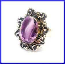 New Purple Amethyst 925 Silver Ring Size 9.5 FREE SHIPPING #190
