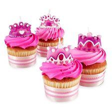 Wilton 4 Set Princess Queen Party Candles Cupcakes Cake Birthday Girl Decorating