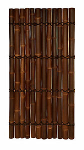 BAMBOO FENCING PANELS SCREENS - BROWN 2.0m(H) x 1.0m(W)
