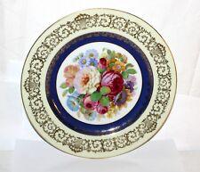 Thomas * Prunk- Teller / Platte 27cm * Sommerblumen & Gold * Antik 1910 * 10926