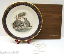 1973 Lenox Woodland Wildlife Plate by Boehm ~ Raccoons ~ 1st in Series