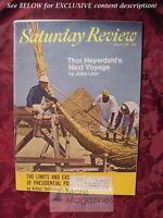 SATURDAY REVIEW magazine May 3 1969 THOR HEYERDAHL ARTHUR SCHLESINGER Jr