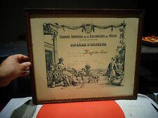 Cadre & Diplome 1938 Chambre Syndicale de la Boulangerie de Mâcon et Environs