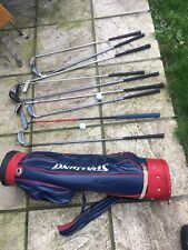 GOLF SPALDING BAG WITH 6 GOLF CLUBS