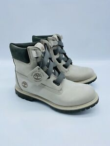 """Timberland Women Pure Cashmere 6"""" Premium Convenience Leather Boots Taupe US 9"""