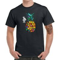 Pineapple Trend Men Short Sleeve Graphic T-Shirt Funny Tops Tee Shirts