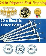 20 Electric Fence Tread In Posts Strip Cell Graze Temporary Yard Tape Wire