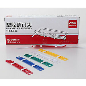 50 Sets Office Colorful Plastic Binding Fastener File Document Paper School