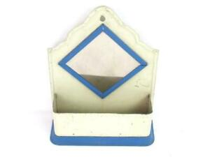 Vintage Metal Hanging Letter Holder Household Organizer With Mirror