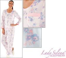 New Lady Selena Sleepwear Primrose Round Neck Pyjama Set Micro Fleece Size 10-20