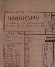orig. FILMPLAN / STORYBOARD  238x103 - Fernsehfilm HEMMINGWAY Bavaria TAURUSFILM