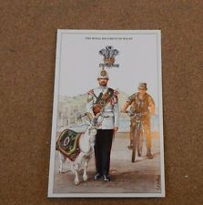 Military Uniforms Postcard The Royal Regiment Of Wales unposted