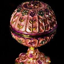 Metal Craft Pink Faberge Easter Egg for Wedding Decoration