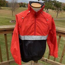 Gore-tex Hooded Mens Jacket Windbreaker Size Large Side Zip Off Color Block Vtg