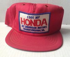 1970s 1980s HONDA SUBURBAN MOTORS BASEBALL CAP HAT, HARRISONBURG, VA, VINTAGE