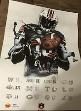 2018 Auburn Tigers Football Schedule Fan Day Poster Stidham