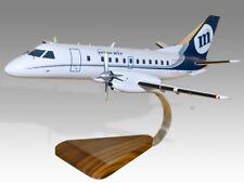 Saab 340 MacAir VH-XDA Solid Kiln Dry Wood Handmade Airplane Desktop Model