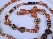Ancient Etch Carnelian Beads Strand Roman 200 BC  #BD15043
