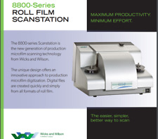 Wicks and Wilson 8800-Series Microfilm Scanners with 1000' spools