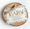 Personalised Jungle Baby Shower Invitations • Gender Reveal Invites Neutral x10