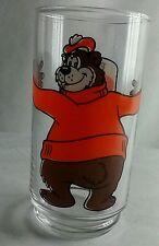 Vintage 1980s A&W Restaurant Glass Tumbler w/ Bear